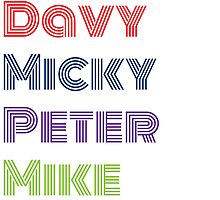 Davy Micky Peter Mike by hourglasssusie