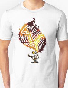 Realistic Flame Good Mythical Morning Logo Unisex T-Shirt