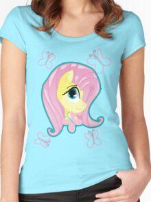 Fluttershy Women's Fitted Scoop T-Shirt