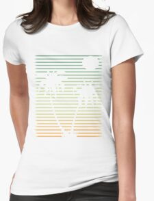 Distressed Beach Palms  Womens Fitted T-Shirt