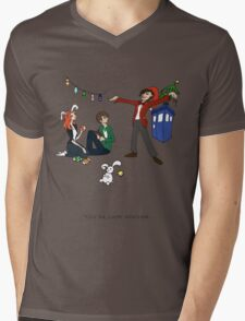 The Doctor is Late Mens V-Neck T-Shirt