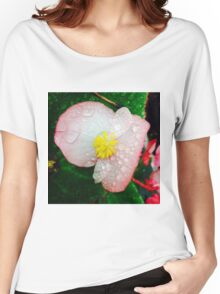 Flower Covered In Dew Women's Relaxed Fit T-Shirt