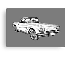 1962 Chevrolet Corvette Illustration Canvas Print