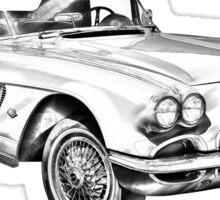 1962 Chevrolet Corvette Illustration Sticker