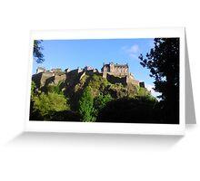 Edinburgh Castle in the Sun Greeting Card