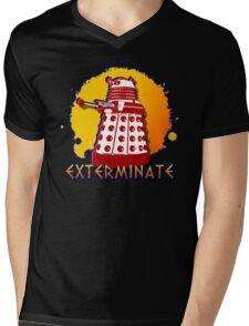 Doctor Who: Exterminate Dalek Art Mens V-Neck T-Shirt