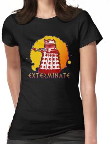 Doctor Who: Exterminate Dalek Art Womens Fitted T-Shirt