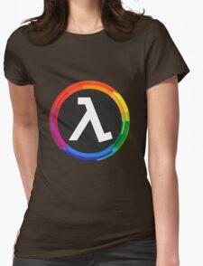 Half Life Logo (Rainbow) Womens Fitted T-Shirt
