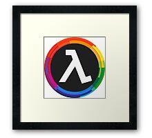 Half Life Logo (Rainbow) Framed Print