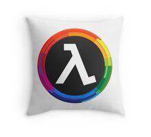 Half Life Logo (Rainbow) Throw Pillow