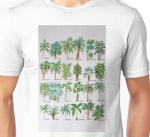Palm tree watercolor alphabet Unisex T-Shirt