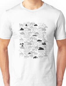 Doodle clouds and cats Unisex T-Shirt