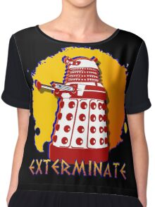Doctor Who: Exterminate Dalek Art Chiffon Top