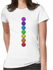 7 Chakras of Buddha Womens Fitted T-Shirt