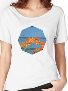 Blue Crocosmia  Women's Relaxed Fit T-Shirt