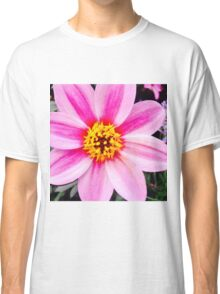 Yellow And Pink Flower Classic T-Shirt