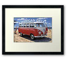American Dream Volkswagen Framed Print