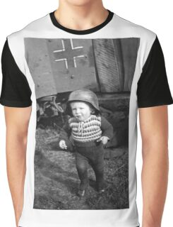 German Babe Playing Soldier During WW2 Graphic T-Shirt