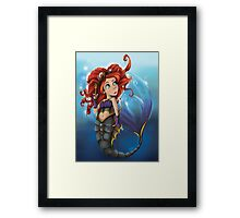 Steampunk Little Mermaid Framed Print