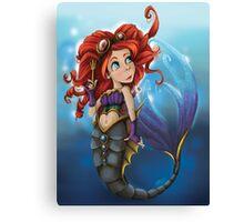 Steampunk Little Mermaid Canvas Print