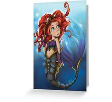 Steampunk Little Mermaid Greeting Card