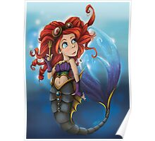 Steampunk Little Mermaid Poster