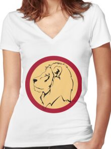 Lion the The King Women's Fitted V-Neck T-Shirt