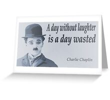 Charlie Says Laugh Greeting Card