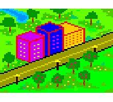 Pixel Town Photographic Print