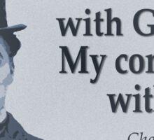 Charlie Says Man Sticker