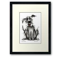 Ugly the dog Framed Print
