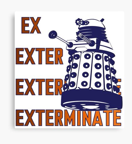 Doctor Who: Ex Exterminate Dalek Canvas Print