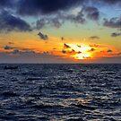 The sea at sunset by annalisa bianchetti