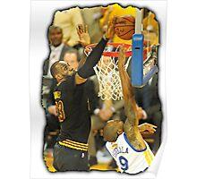 LeBron James Blocking Andre Iguodala- 2016 NBA Finals Poster