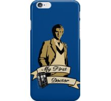 My first Doctor (Who) fifth 5th Peter Davison iPhone Case/Skin