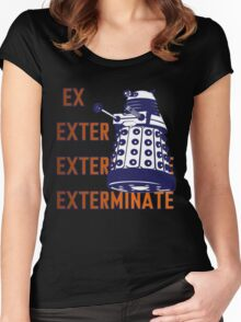 Doctor Who: Ex Exterminate Dalek Women's Fitted Scoop T-Shirt