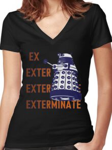 Doctor Who: Ex Exterminate Dalek Women's Fitted V-Neck T-Shirt