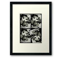 Black Kat Nip Framed Print