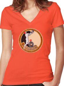 Fetherflex 78rpm 1920 label  Women's Fitted V-Neck T-Shirt