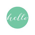 "Mint ""Hello"" Typography Print by mallorybottesch"