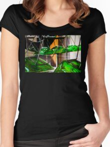 Street scene 1 Women's Fitted Scoop T-Shirt