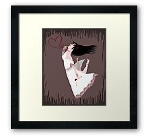 Snow White in Love Framed Print