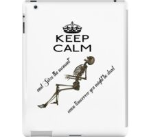 Seize The Moment Skeleton Buffy Quote Bones iPad Case/Skin