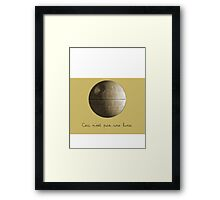 Ceci n'est pas une lune pipe Star Wars That's No Moon Death Star Deathstar Framed Print