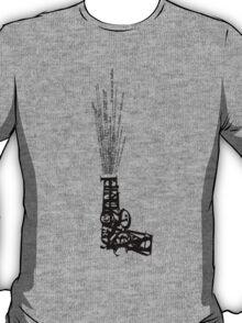Gun Typography spoken bullets T-Shirt