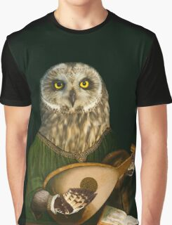 Renaissance Owl - Anthropomorphic Art Graphic T-Shirt