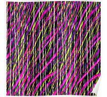 Striped Grunge Poster