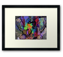 Two Glasses One Bottle Abstract Framed Print