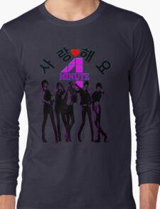 ♥♫SaRangHaeYo(Love) Hot Fabulous K-Pop Girl Group-4Minute Clothes & Phone/iPad/Laptop/MackBook Cases/Skins & Bags & Home Decor & Stationary & Mugs♪♥ Long Sleeve T-Shirt