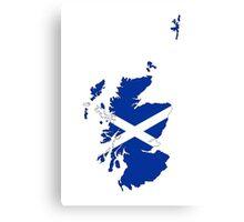 scotland flag map Canvas Print